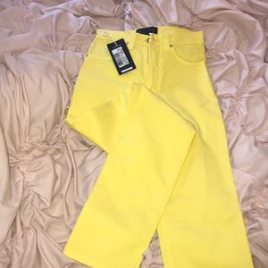 Versace yellow straight leg stretchy jeans